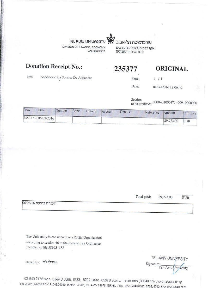 160601-univ-tel-aviv-justificante-donacion-para-investigacion-sindrome-cach